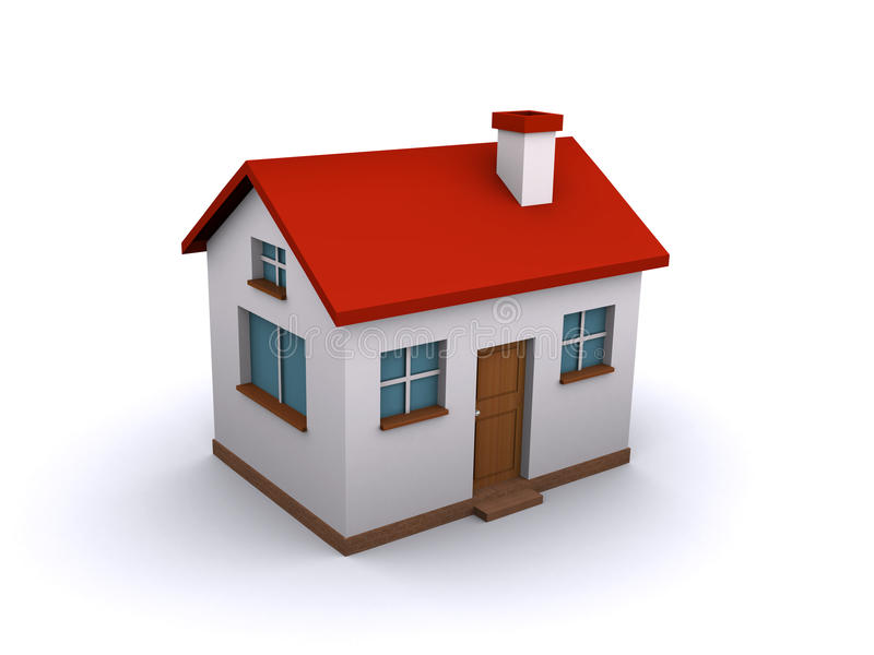 3d house vector illustration