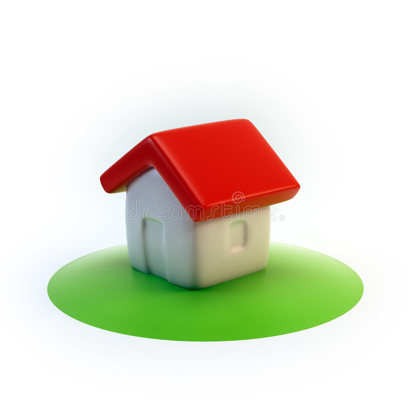 3D house icon vector illustration