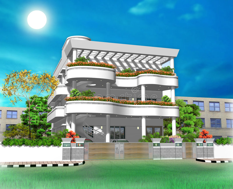 Wonderful Download 3d House Part - 9: Download 3D House Illustration Stock Illustration. Illustration Of Colours  - 3750008