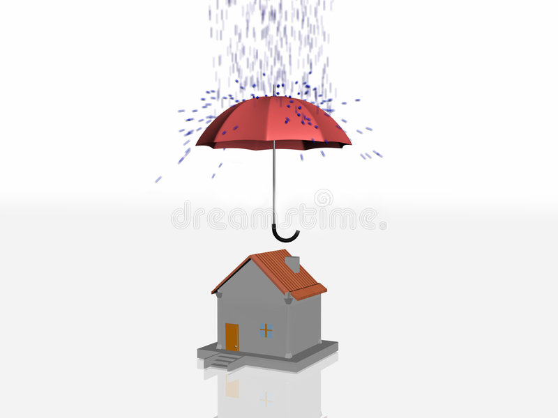 Download 3d House Insurance stock illustration. Image of backgrounds - 9092350