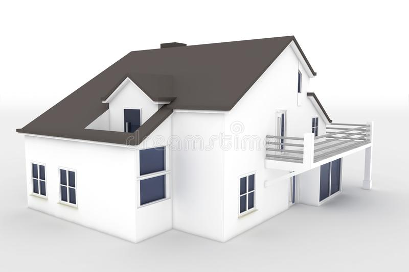 Download 3d house isolated on white stock illustration. Image of door - 18397868