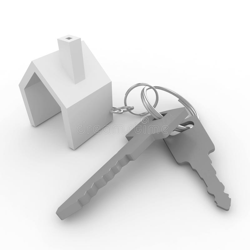 3d house with keys royalty free illustration