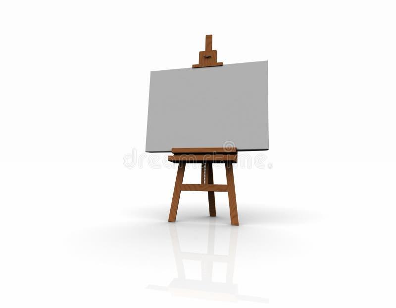 3D houten schildersezel stock illustratie