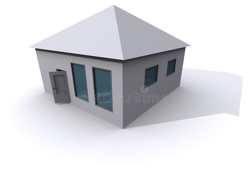 3D Huis stock illustratie