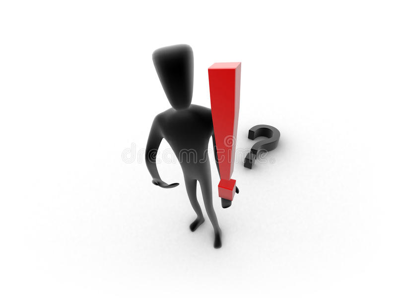 Download 3d Human With An Idea - Solution Concept Stock Photo - Image: 18054200