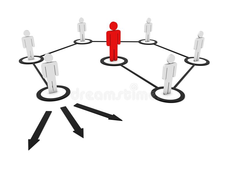 Download 3d human network stock illustration. Image of company - 14493009