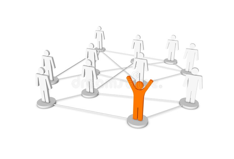 3d human network royalty free stock image