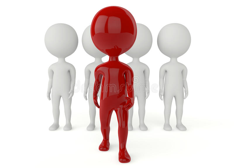Download 3d Humanoid Character Leadership Concept Stock Illustration - Image: 26563876