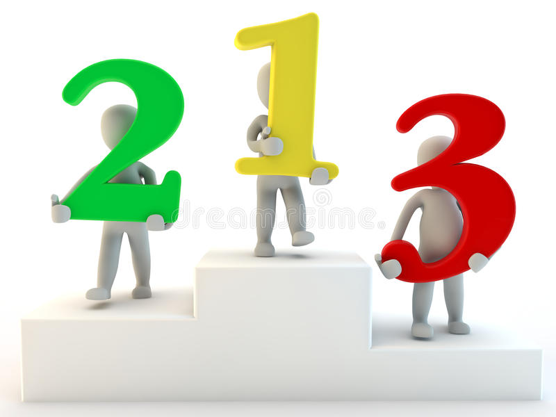 Download 3D Humans First Second And Third Place Stock Illustration - Image: 22289705
