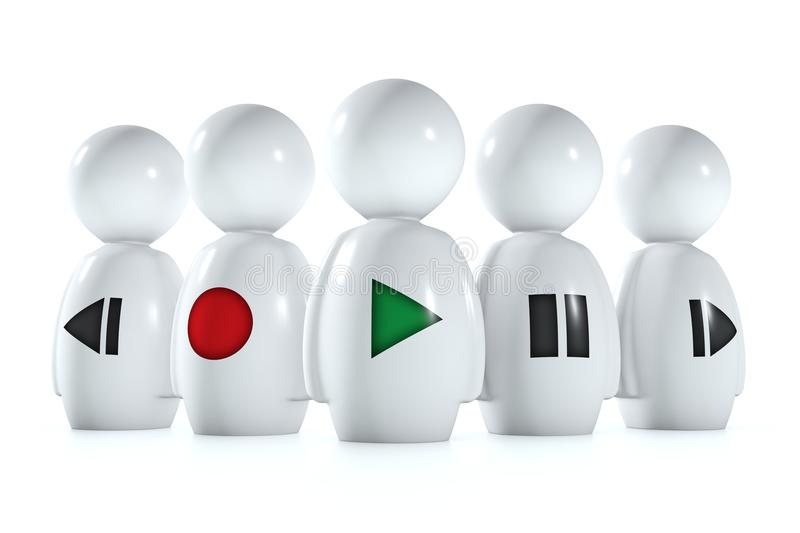 Download 3d Humans With Stereo Symbols Stock Illustration - Image: 22555664