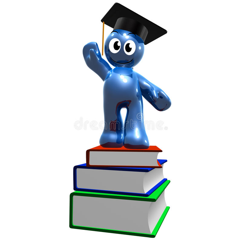 Download 3d Icon Of Graduation And Books Stock Illustration - Image: 11366717