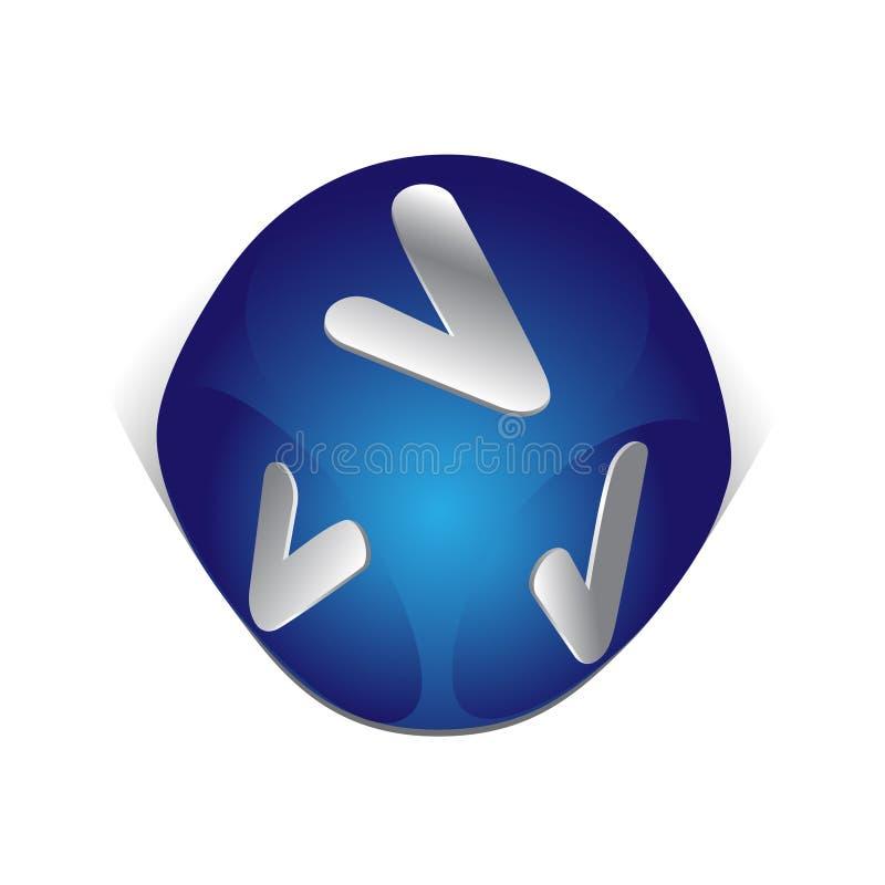 3d icon ok sign web иллюстрация вектора