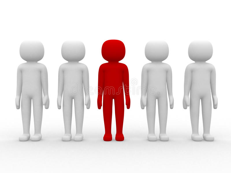 3d icon people - leadership and team