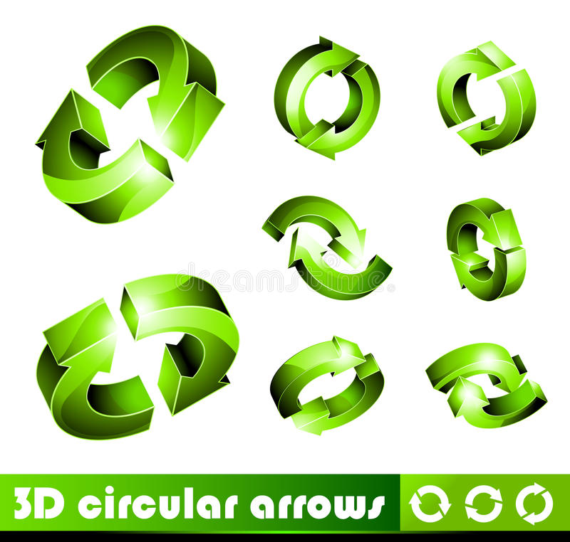Download 3D Icons: Arrows Royalty Free Stock Images - Image: 10539349