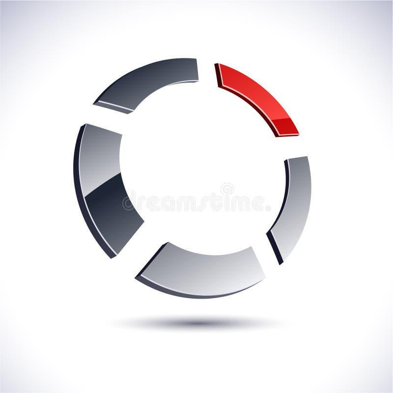 3d ikona abstrakcjonistyczny pierścionek