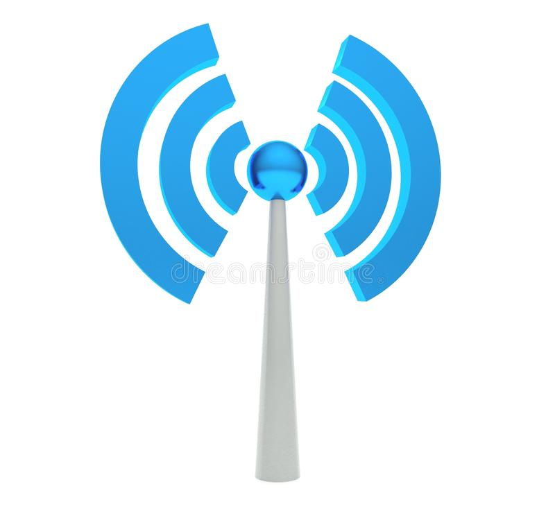 3d ikony wifi ilustracji