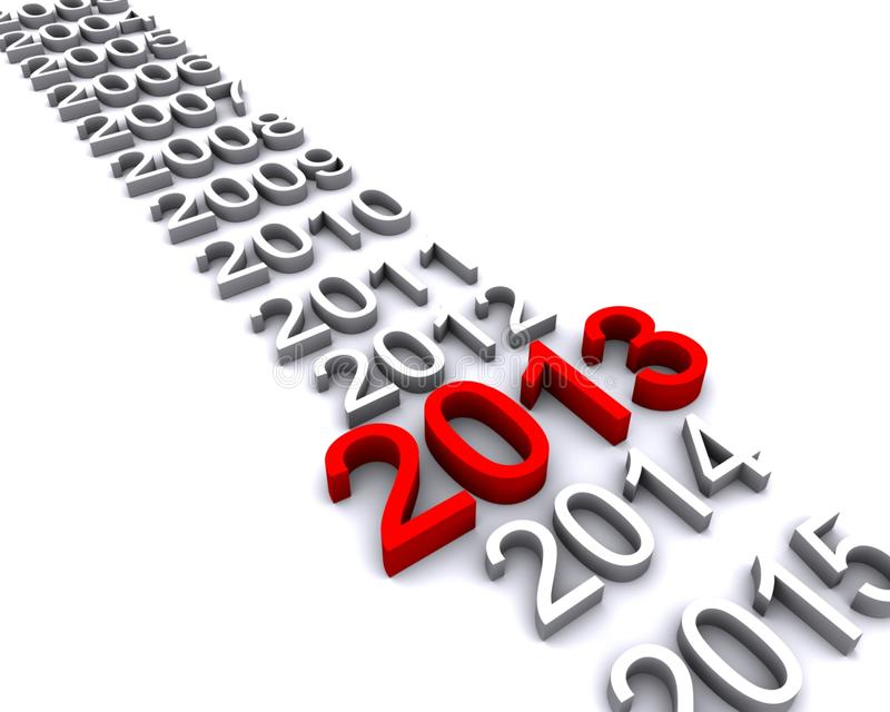 Download 3d Illlustration Of Year 2013 Stock Photography - Image: 26649622