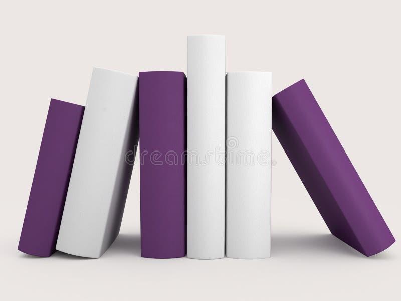 3D illustratie van boeken stock afbeelding