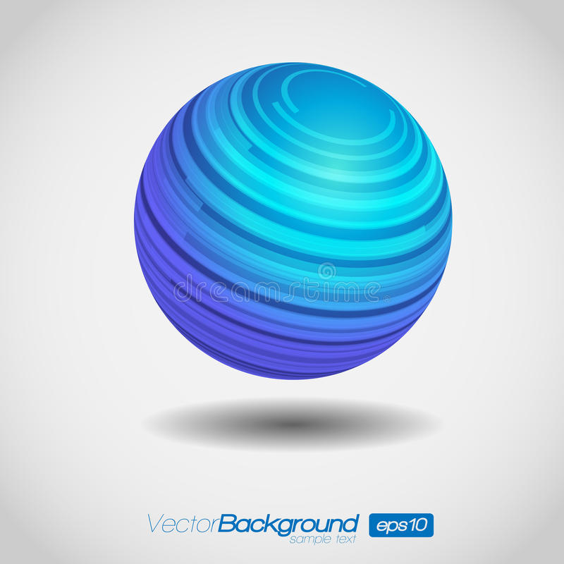 3D Illustratie van de Bol van de Wereld royalty-vrije illustratie