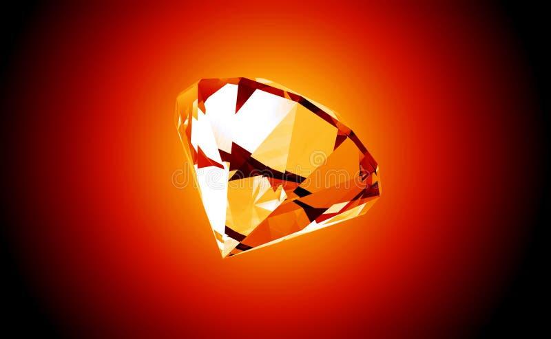 3D illustratie van de Diamant van de brand vector illustratie