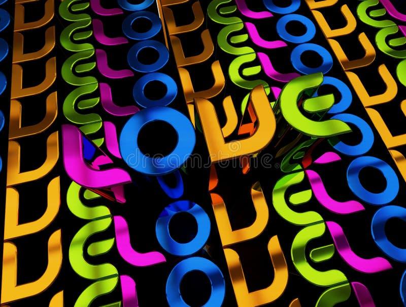 3D illustratie van de woordLiefde vector illustratie