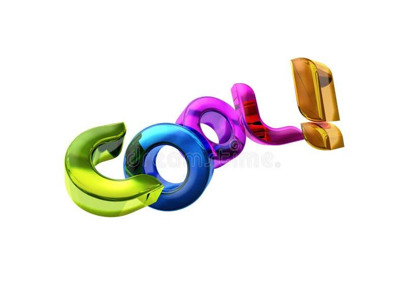 3D illustratie van het Koele woord! stock illustratie
