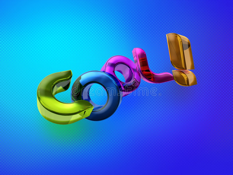 3D illustratie van het Koele woord! vector illustratie