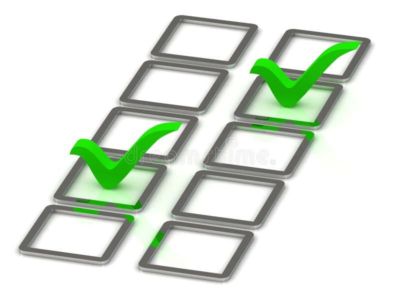 Download 3d Illustration Of 2 Green Check Mark Stock Illustration - Image: 26981892