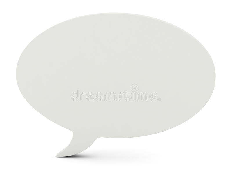 3D Illustration Of A Blank Speech Bubble Royalty Free Stock Photo