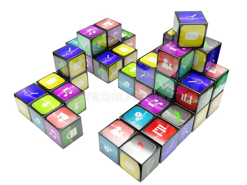 Download 3d An Illustration Color Cubes Stock Illustration - Illustration: 23430853