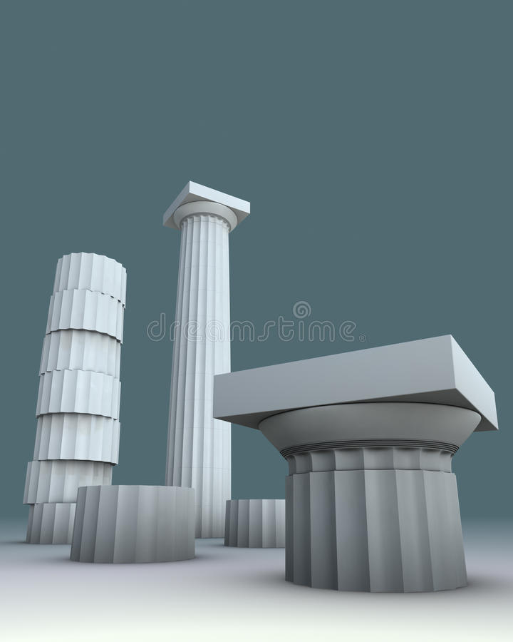 Download 3d Illustration On Greece Greek Culture Stock Illustration - Image: 20095614