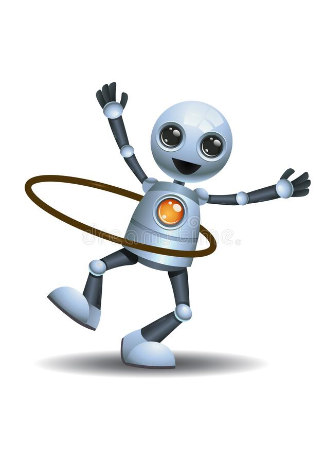 Free 3d Illustration Of  Little Robot The Kids Playing Hoola Hoop Royalty Free Stock Photography - 180987677