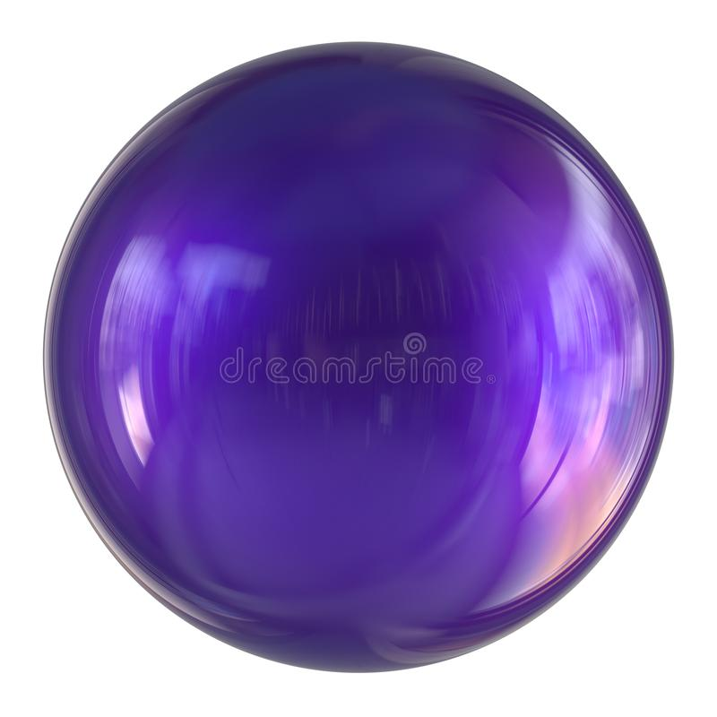 Free 3d Illustration Of Purple Sphere Round Button Basic Ball Circle Royalty Free Stock Photo - 152561185