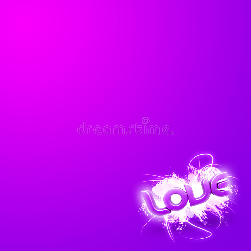 3D illustration of the word Love Pink mini. 3D illustration of the word Love over a modern abstract background royalty free illustration