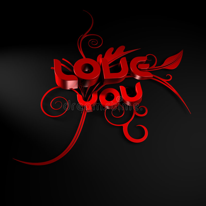 Download 3D Illustration Of The Words Love And You Stock Illustration - Image: 8352663
