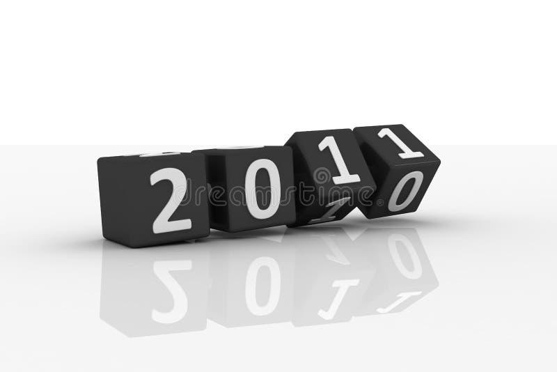 3D Image Of 2011 (Black-Dice) stock illustration