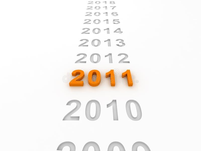 Download 3D Image Of 2011 (Orange) Royalty Free Stock Image - Image: 13565626