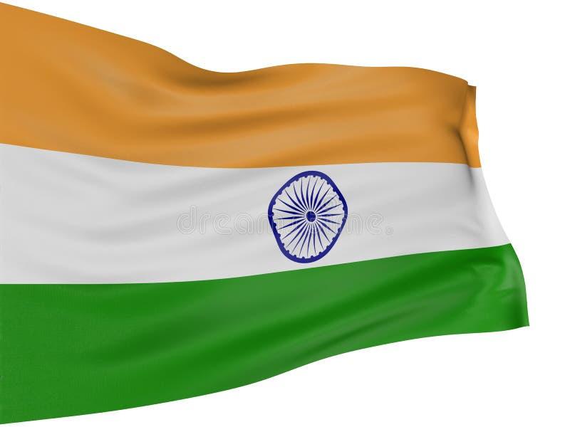 3D Indische vlag royalty-vrije illustratie
