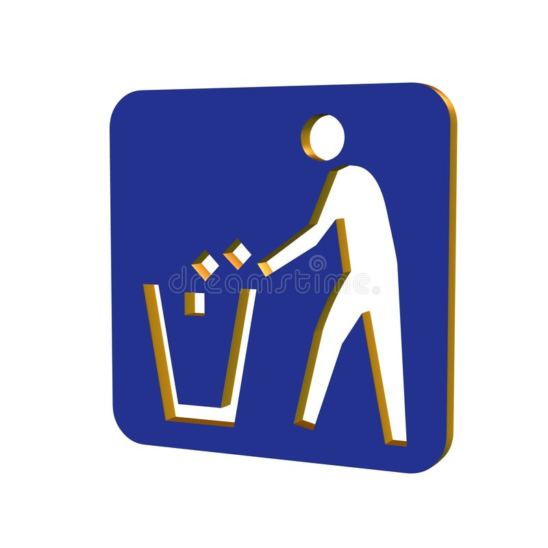 Download 3d info sign stock illustration. Image of blank, warning - 2636873