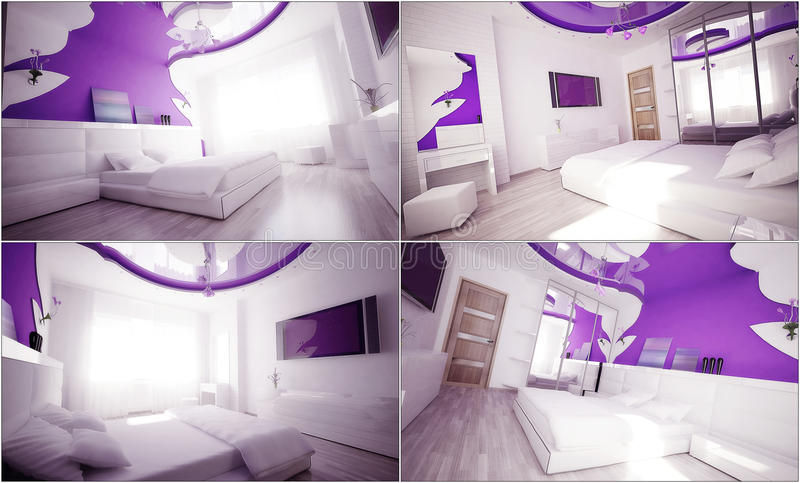Download 3d Interior Of The Bedroom Royalty Free Stock Photography - Image: 25318727