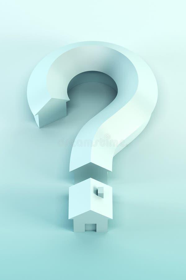 3d isolados ponto de interrogação rendem ilustração do vetor