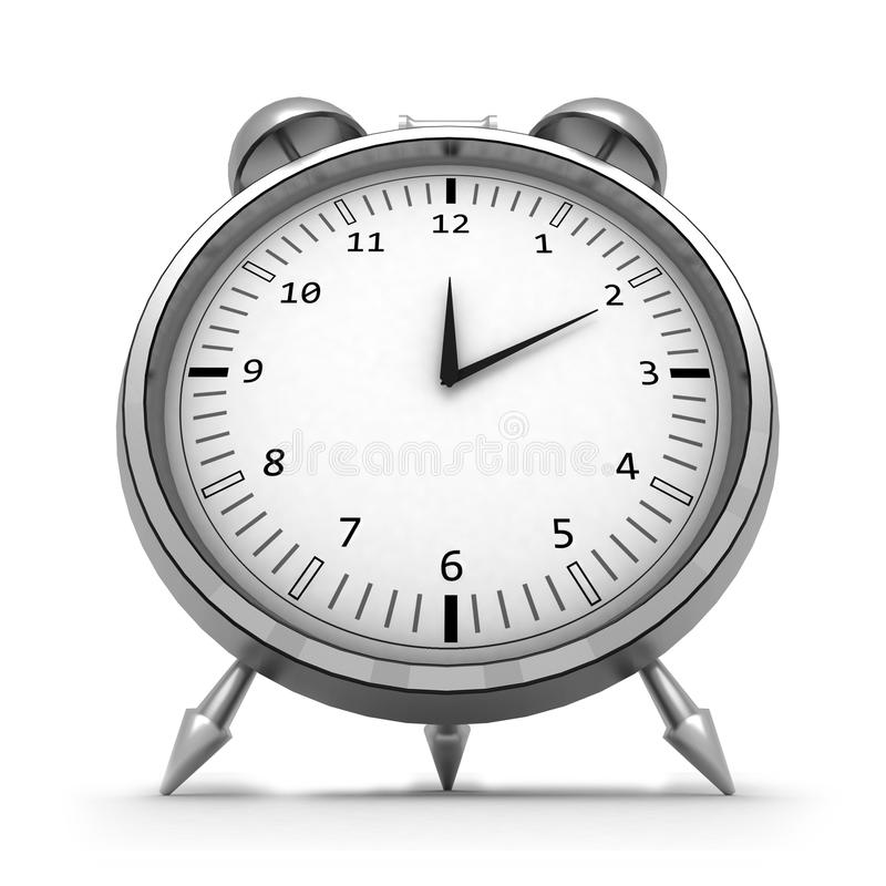 Download 3d isolated alarm clock stock illustration. Image of appointment - 14851821
