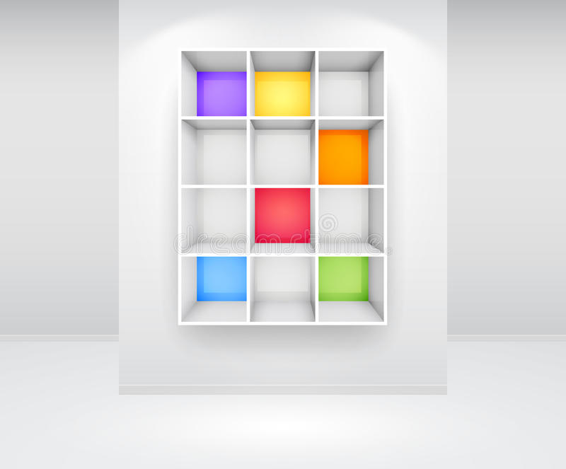 3d Isolated Empty Colorfu Stock Photography
