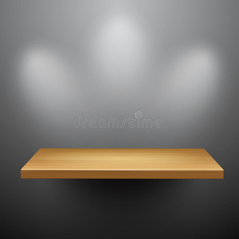 3d isolated Empty shelf for exhibit royalty free illustration