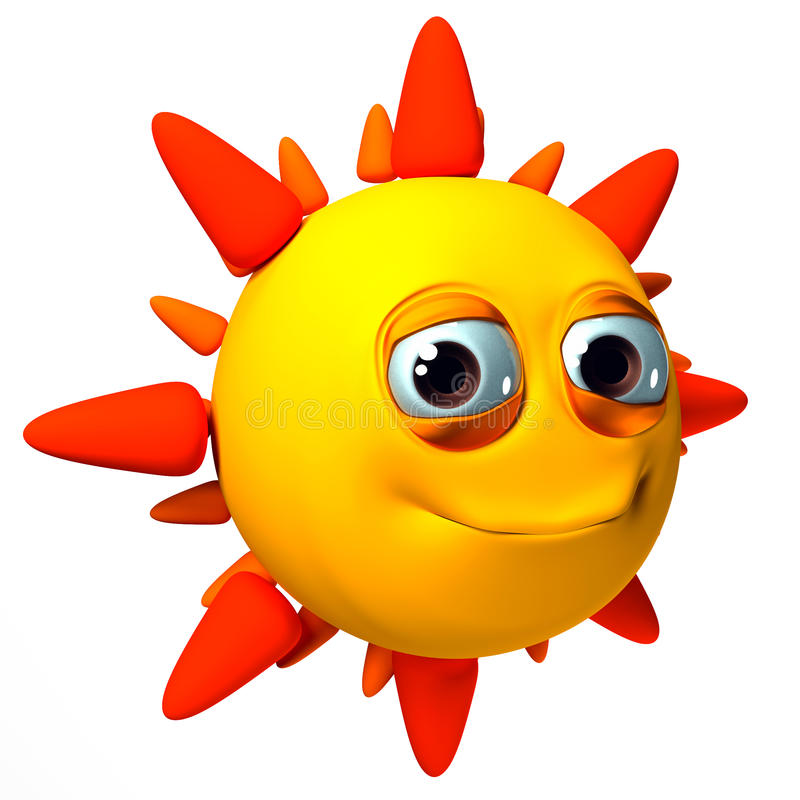 3D isolated Sun Illustration stock illustration