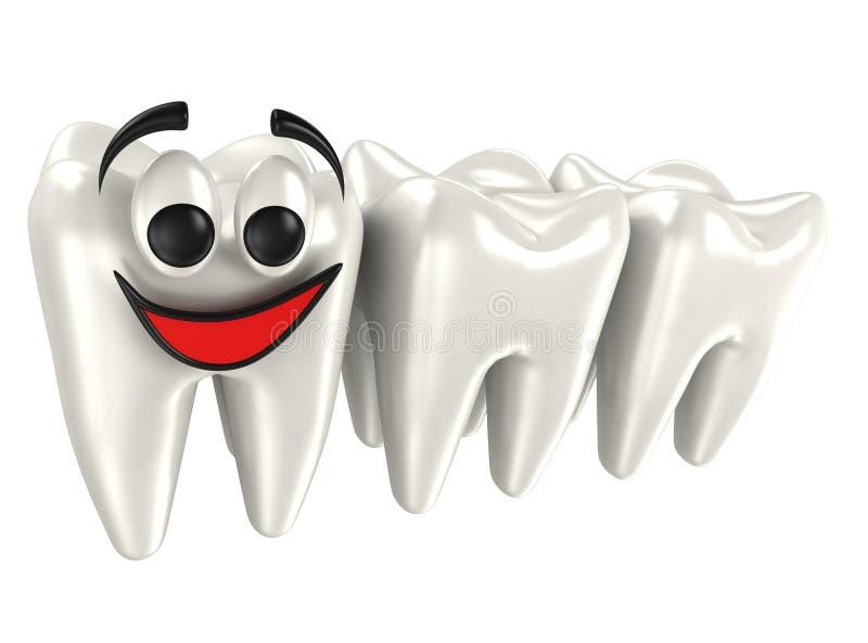 3d isolerade tänder royaltyfri illustrationer