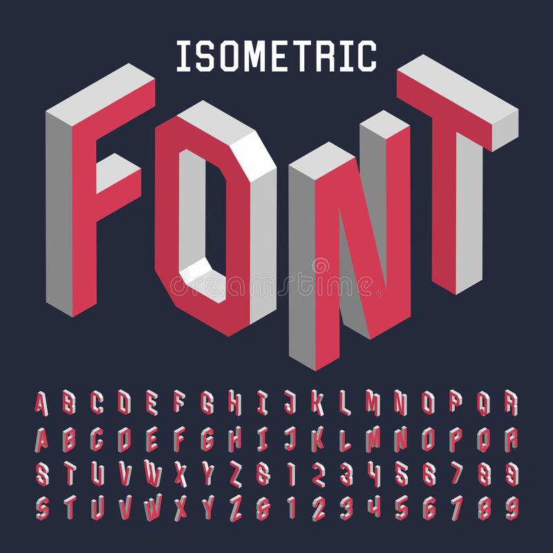 Free 3d Isometric Alphabet Vector Font. Royalty Free Stock Photos - 59087818