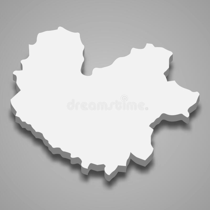 Free 3d Isometric Map Of Thai Nguyen Province Of Vietnam Royalty Free Stock Photography - 214845947