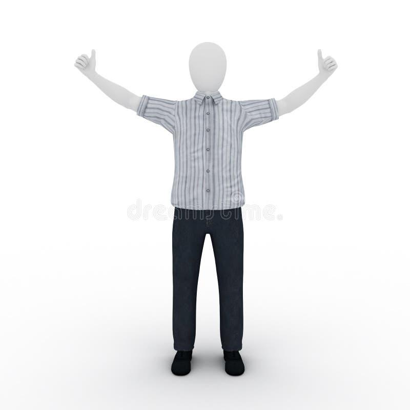 3d istota ludzka zwycięzca ilustracji
