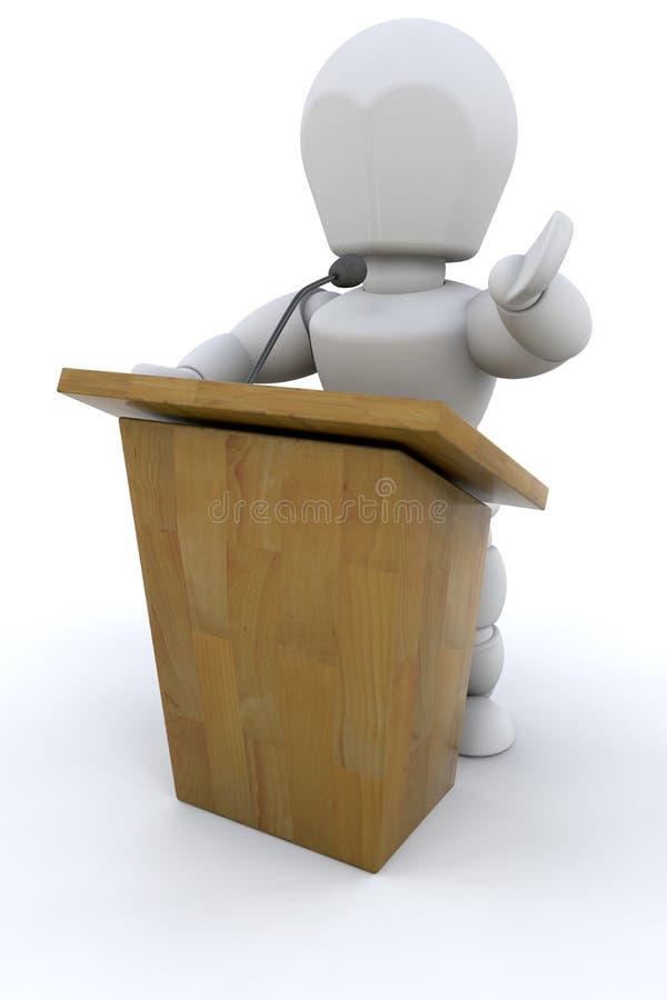 3d jawny mówca ilustracja wektor